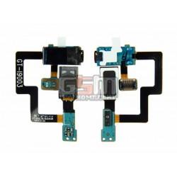 Коннектор handsfree для Samsung I9003 Galaxy SL, со шлейфом, с динамиком