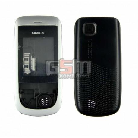 Корпус для Nokia 2220s, серебристый, копия ААА