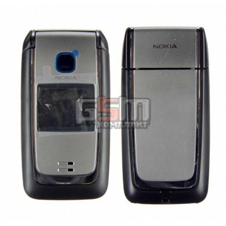 Корпус для Nokia 6125, черный, копия ААА, с клавиатурой