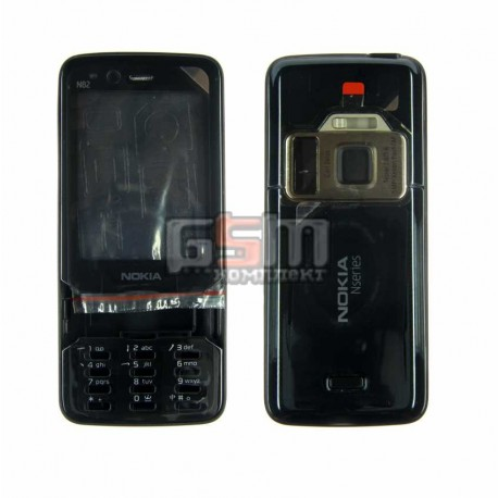 Корпус для Nokia N82, копия AAA, черный