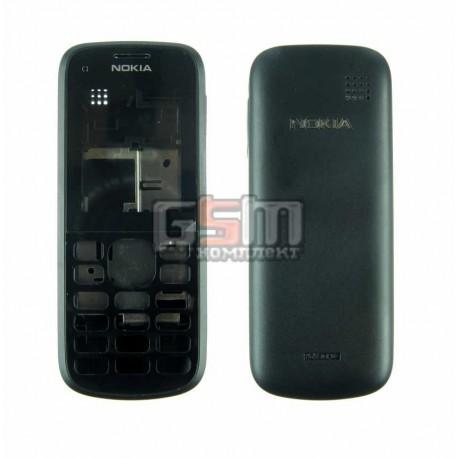 Корпус для Nokia C1-02, черный, high-copy