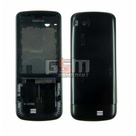 Корпус для Nokia C3-01, черный, high-copy