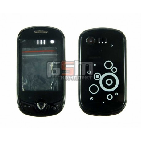 Корпус для Samsung C3510, черный, копия ААА