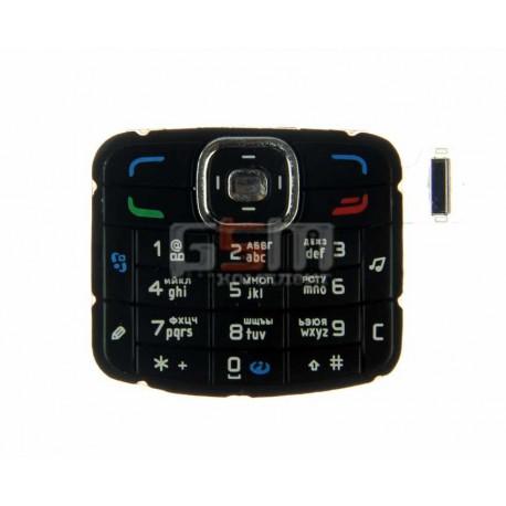 Клавиатура для Nokia N70, черная, русская