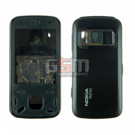 Корпус для Nokia N86, черный, high-copy