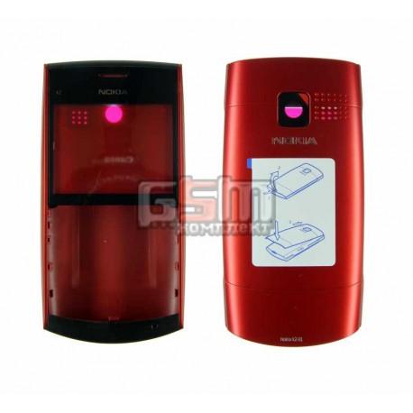 Корпус для Nokia X2-01, красный, high-copy