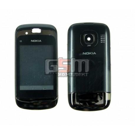 Корпус для Nokia C2-06, черный, копия ААА