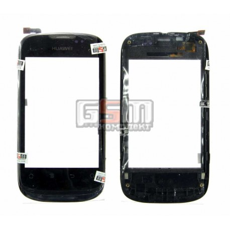 Тачскрин для Huawei U8650; Kyivstar Aqua; MTC 955, черный, с передней панелью