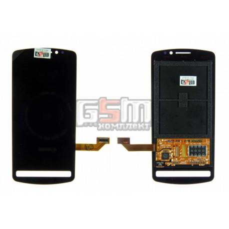 Дисплей для Nokia 700, черный, с тачскрином модуль