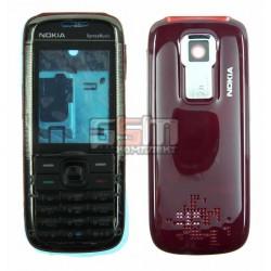 Корпус для Nokia 5130, красный, копия ААА, с клавиатурой