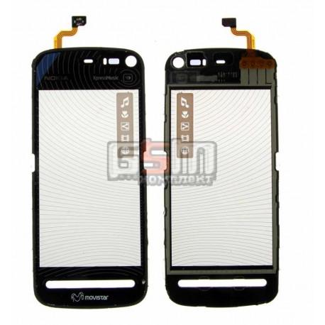 Тачскрин, сенсор для Nokia 5800, оригинал, черный, (02690S6)