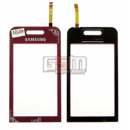 Тачскрин для Samsung S5230 Star, бордовый, la fleur