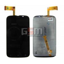 Дисплей для HTC T328w Desire V, черный, с сенсорным экраном (дисплейный модуль)