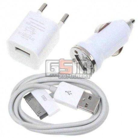 Набор 3 в 1 зарядного устройство для MP3-плееров Apple iPod Mini 1G, iPod Nano 3G, iPod Nano 4G, iPod Photo 4G, iPod Touch 1G, i