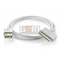USB дата-кабель для Apple iPhone 2G, iPhone 3G, iPhone 3GS, iPhone 4, iPhone 4S; планшетов Apple iPad, iPad 2, iPad 3; MP3-плееров Apple iPod Mini 1G, iPod Nano 3G, iPod Nano 4G, iPod Photo 4G, iPod Touch 1G, iPod Touch 2G, iPod Touch 3G, iPod Touch 4G, i