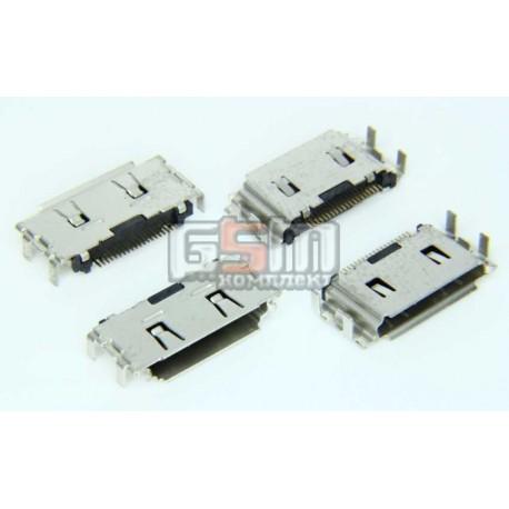 Коннектор, гнездо зарядки для Samsung C3010, C3011, G400, I560, I7110, I740, S3600, S5200, оригинал, (3710-002568)