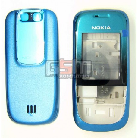 Корпус для Nokia 2680s, синий, копия ААА, с клавиатурой