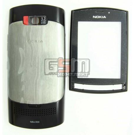 Корпус для Nokia 303 Asha, серый, high-copy