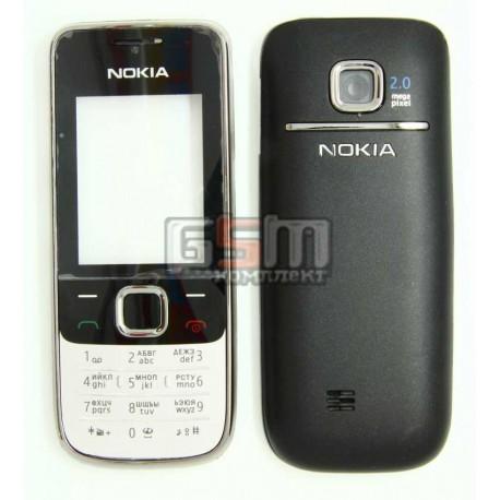 Корпус для Nokia 2730c, черный, копия ААА, с клавиатурой