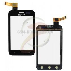 Тачскрин для Sony ST21i Xperia Tipo, ST21i2 Xperia Tipo, черный