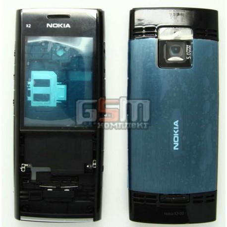 Корпус для Nokia X2-00, черный, high-copy