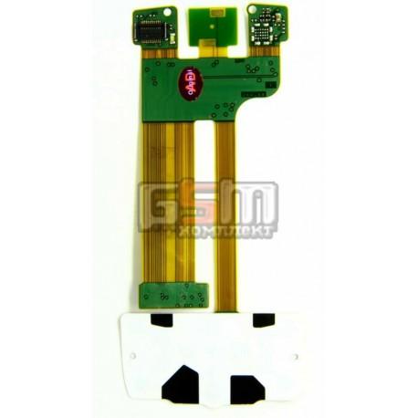 Шлейф для Nokia E66, копия, межплатный, с компонентами, без камеры, с верхним клавиатурным модулем