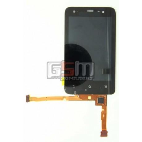 Дисплей для Sony Ericsson ST17i, черный, с сенсорным экраном (дисплейный модуль)