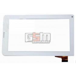 """Тачскрин (сенсорный экран, сенсор ) для китайского планшета 7"""", 30 pin, с маркировкой FM703906KA, белый"""