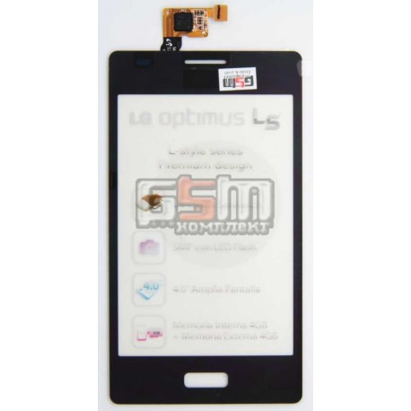Тачскрин для LG E610 Optimus L5, E612 Optimus L5, черный