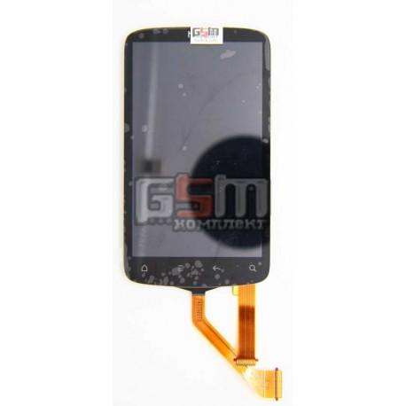 Дисплей для HTC G12, S510e Desire S, черный, с сенсорным экраном (дисплейный модуль), с узким шлейфом