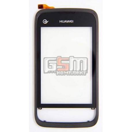 Тачскрин для Huawei M860, черный, с рамкой
