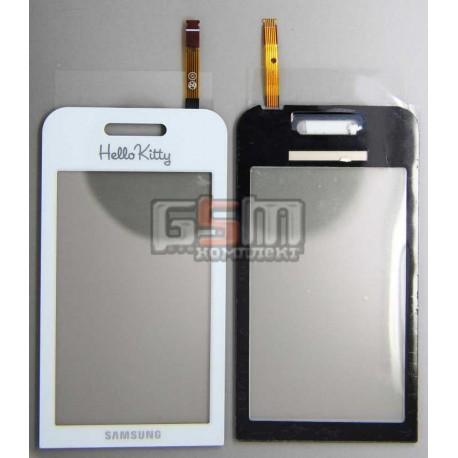 Тачскрин для Samsung S5230 Star, белый, hello kitty