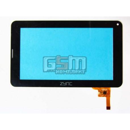 """Тачскрин (сенсорный экран, сенсор ) для китайского планшета 7"""", 12 pin, с маркировкой CZY6267A-FPC, черный"""