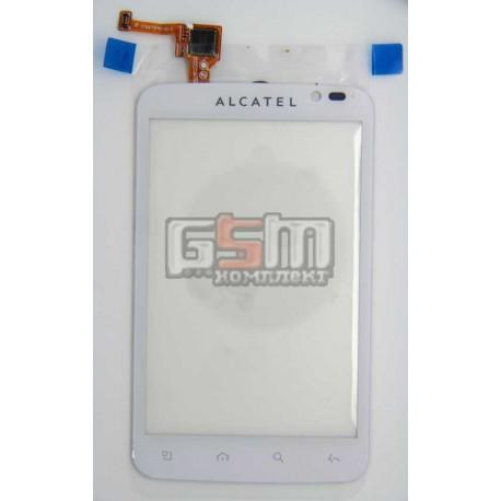 Тачскрин для Alcatel OT991, белый