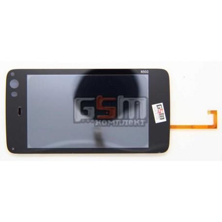 Тачскрин для Nokia N900, с рамкой, черный