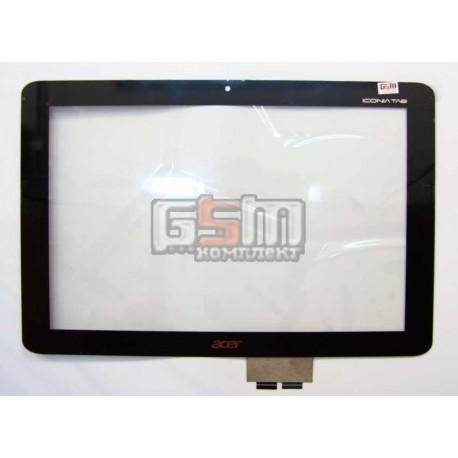 Тачскрин для планшета Acer Iconia Tab A210, Iconia Tab A211, черный, #69.10I22.T01