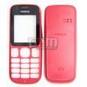 Корпус для Nokia 101, красный, high-copy, передняя и задняя панель