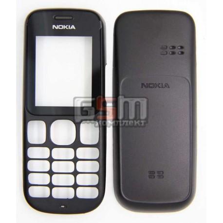 Корпус для Nokia 101, черный, high-copy, передняя и задняя панель