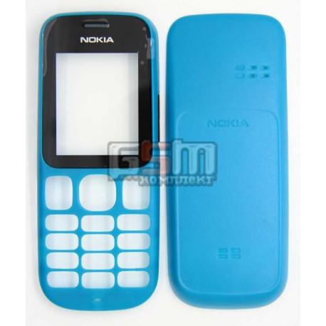 Корпус для Nokia 101, синий, high-copy, передняя и задняя панель