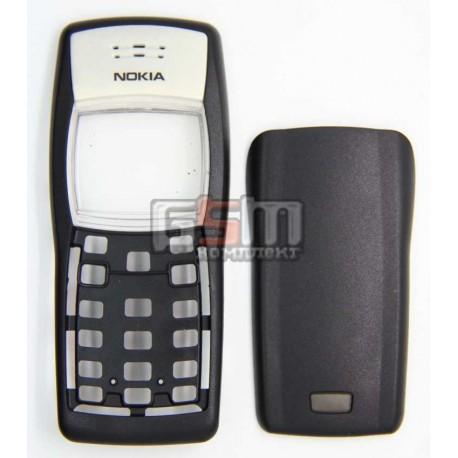 Корпус для Nokia 1100, 1101, черный, копия ААА, передняя и задняя панель