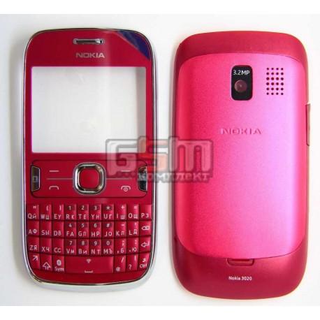 Корпус для Nokia 302 Asha, красный, копия ААА