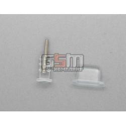 Заглушки защиты коннектора зарядки и коннектора наушников для iPhone 5, прозрачные