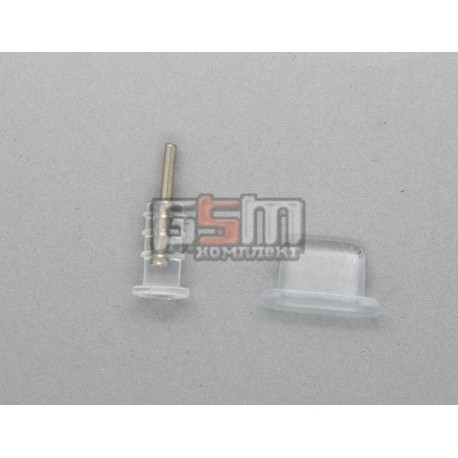 Заглушки захисту конектора зарядки і конектора навушників для iPhone 5, прозорі