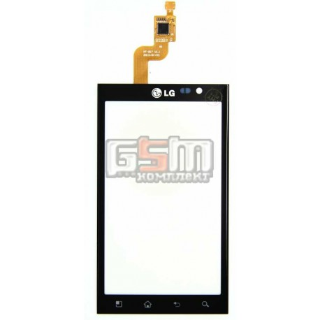 Тачскрин для LG P720 P720 Optimus 3D Max, черный
