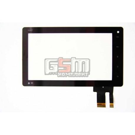 Тачскрін (сенсорний екран, сенсор) для китайського планшету 7, 30 6 pin, с маркировкой 300-N3288C-A00-VER1.0, 300-N3288C-B00-VER1.0, для Ainol NOVO 7 Basic, Ainol Novo 7 Advanced, черный