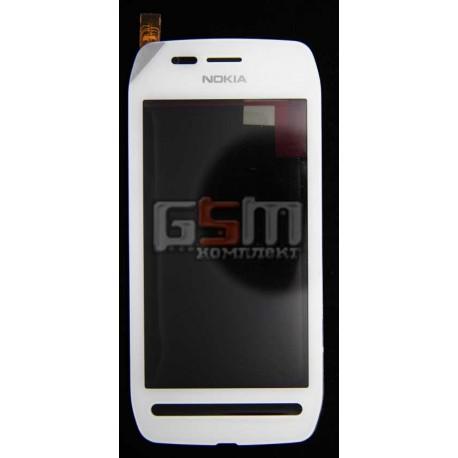 Тачскрин, сенсор, сеносрный Дисплей для Nokia 603, белый