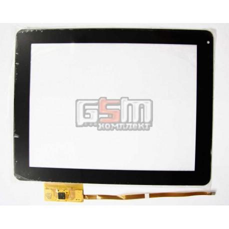 Тачскрін (сенсорний екран, сенсор) для китайського планшету 9.7, 12 pin, с маркировкой FPC-TP097005(A106)-00, DPT 300-L4220A-B00-V1.0, TPC0036 для Crony CN997G, Sysbay S-MP99, MID A106 3G, iPAD (China), черный