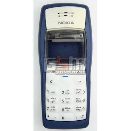 Корпус для Nokia 1100, 1101, копия AAA, синий