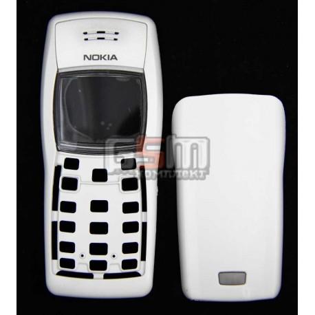 Корпус для Nokia 1100, 1101, белый, копия ААА, передняя и задняя панель