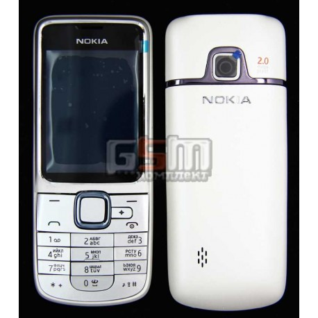 Корпус для Nokia 2710n, копия AAA, белый, с клавиатурой